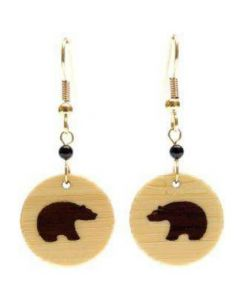 Bamboo Polar Bear Earrings